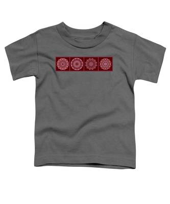 Dusty Rose Mandala Fractal Panel Toddler T-Shirt