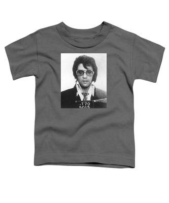 Elvis Presley Mug Shot Vertical Toddler T-Shirt
