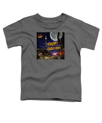 Evocation In Halloween Night Greeting Card Toddler T-Shirt