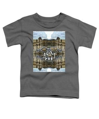 Eye Heart Art Louvre Silver Paris Da Vinci Gears Toddler T-Shirt