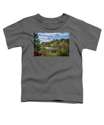 Fall Time On The Lake Toddler T-Shirt