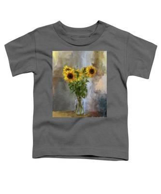 Five Sunflowers Centered Toddler T-Shirt