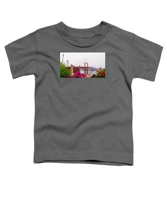 Golden Gate Bridge Flowers 2 Toddler T-Shirt