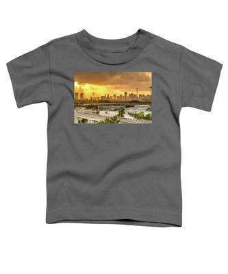 Miami City Sunrise Toddler T-Shirt