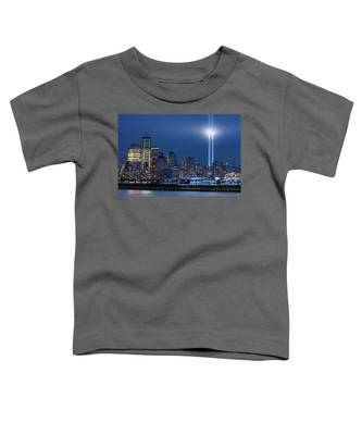 Ground Zero Tribute Lights And The Freedom Tower Toddler T-Shirt