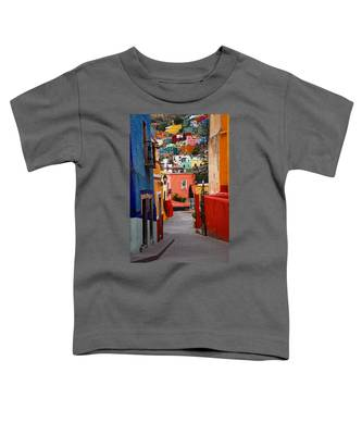 Toddler T-Shirt featuring the photograph Guanajuato Lane by Skip Hunt