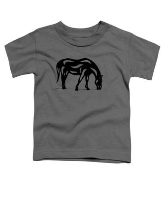 Hazel - Abstract Horse Toddler T-Shirt by Manuel Sueess