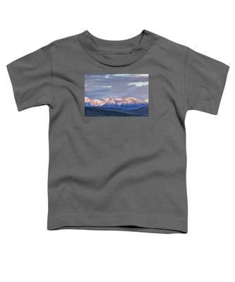 Last Light On Winter Peaks Toddler T-Shirt