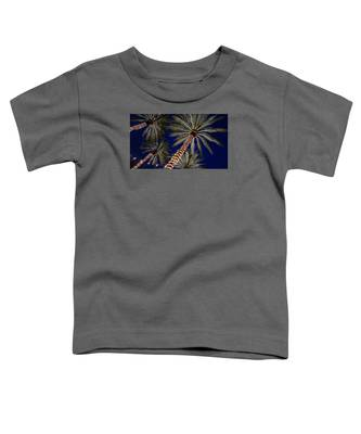 Palm Trees Wrapped In Lights Toddler T-Shirt