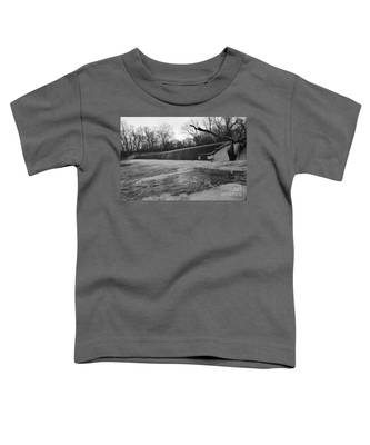 Falling Water On The Pompton Spillway In Winter Toddler T-Shirt