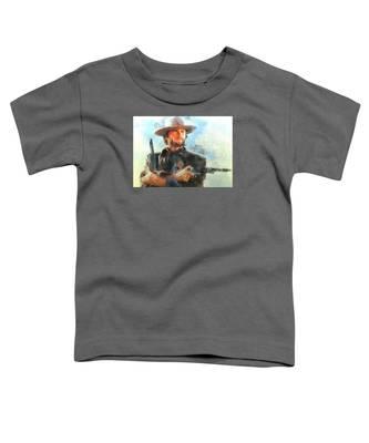 Portrait Of Clint Eastwood Toddler T-Shirt