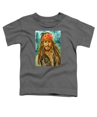 Portrait Of Johnny Depp Toddler T-Shirt