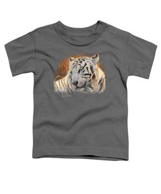 Portrait White Tiger 1 Toddler T-Shirt