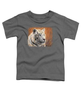 Portrait White Tiger 2 Toddler T-Shirt