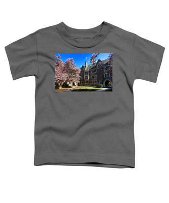 Princeton University Pyne Hall Courtyard Toddler T-Shirt