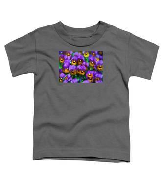 Purple Pansies Toddler T-Shirt