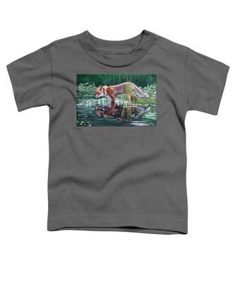 Red Fox Reflecting Toddler T-Shirt