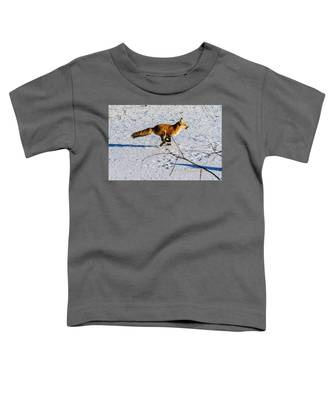 Red Fox On The Run Toddler T-Shirt
