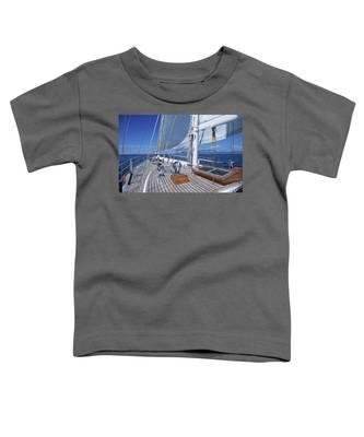 Relaxing On Deck Toddler T-Shirt
