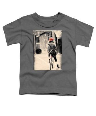 Riding My Bicycle In A Red Hat Toddler T-Shirt