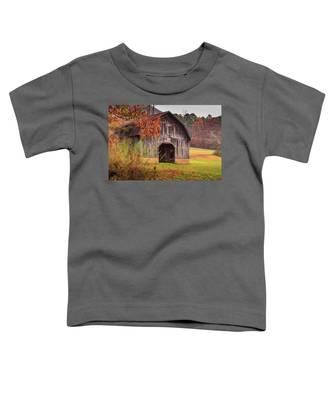 Rustic Barn In Autumn Toddler T-Shirt