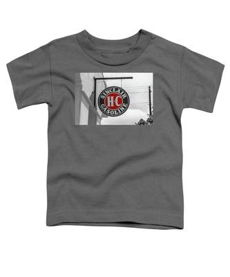 Sinclair Gasoline Round Sign In Selective Color Toddler T-Shirt