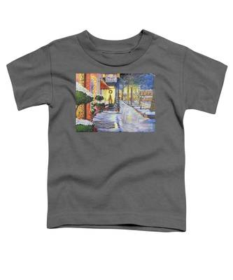 Soft Snowfall In Dahlonega Georgia An Old Fashioned Christmas Toddler T-Shirt