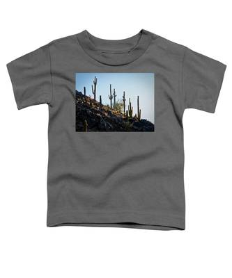 Toddler T-Shirt featuring the photograph Sonoran Desert Saguaro Slope by Judy Kennedy