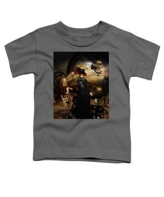 Steampunk Time Traveler Toddler T-Shirt