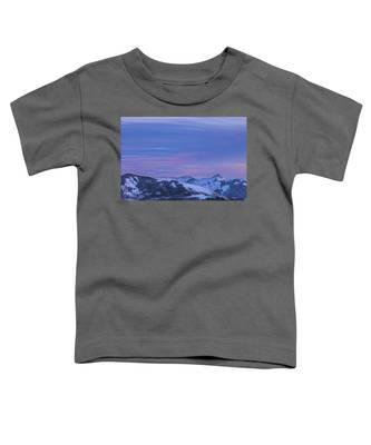 Striped Sky At Day's End Toddler T-Shirt