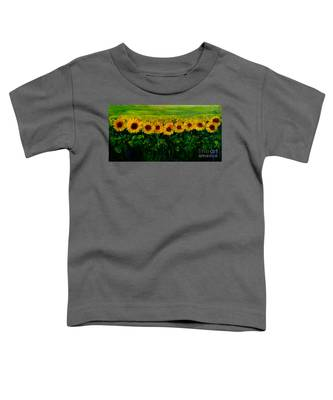 Sunflowers In A Row Toddler T-Shirt
