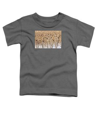 Sunflowers In Snow Toddler T-Shirt