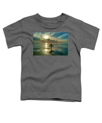 Sunset Surfer Toddler T-Shirt