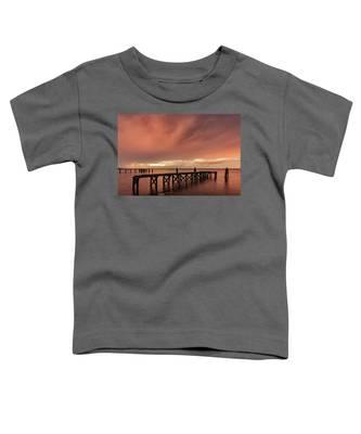 Sunset Thru Storm Clouds Toddler T-Shirt