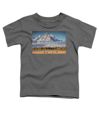 Teton Horses Toddler T-Shirt