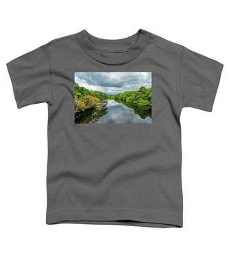 Cloudy Skies Over The River Toddler T-Shirt
