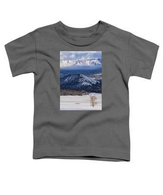 Turret Ridge In Winter Toddler T-Shirt