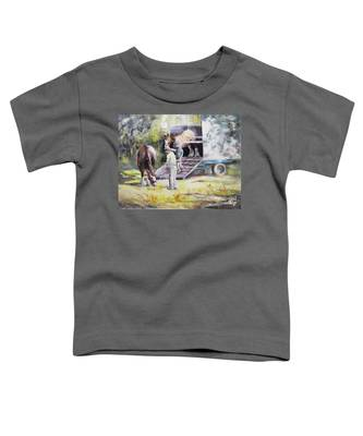 Unloading The Clydesdales Toddler T-Shirt