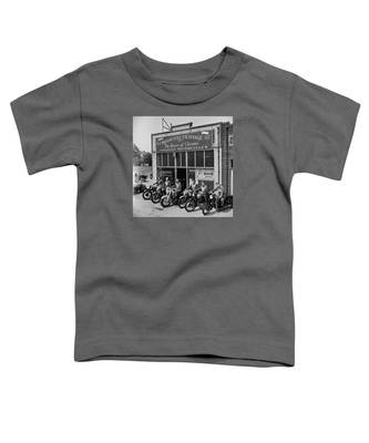 The Motor Maids Of America Outside The Shop They Used As Their Headquarters, 1950. Toddler T-Shirt