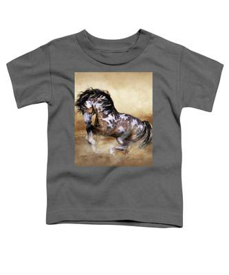 Wild And Free Horse Art Toddler T-Shirt