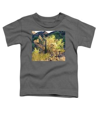 Toddler T-Shirt featuring the photograph Cactus Kingdom by Judy Kennedy