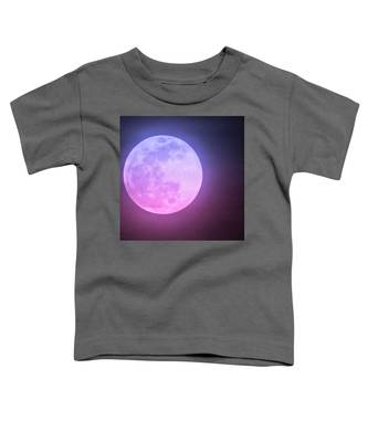 Toddler T-Shirt featuring the photograph Cancer Super Wolf Blood Moon Near Eclipse by Judy Kennedy
