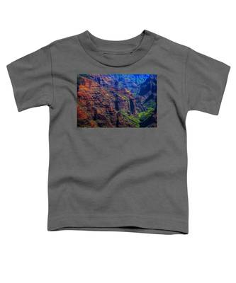 Colorful Mountains Of Kauai Toddler T-Shirt