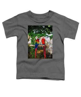 Colorful Parrots Toddler T-Shirt