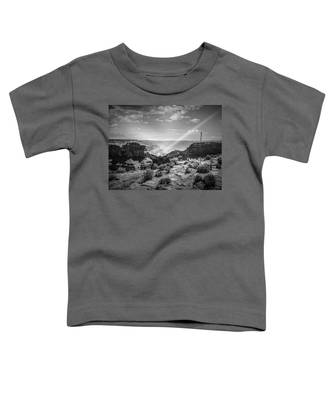 Eagle Rock, Grand Canyon In Black And White Toddler T-Shirt