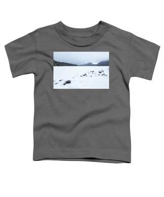 Snow Cover Jordan Pond Toddler T-Shirt