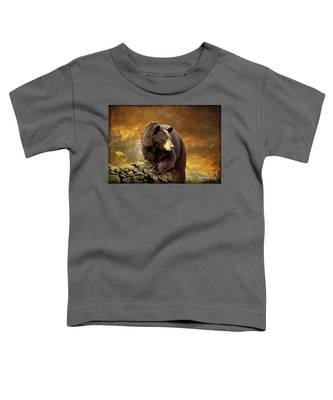 The Bear Went Over The Mountain Toddler T-Shirt