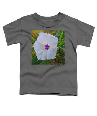 Toddler T-Shirt featuring the photograph The Perfect Flower - Sacred Datura by Judy Kennedy