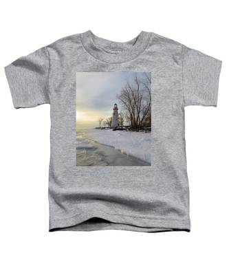 Marblehead Lighthouse Winter Sunrise Toddler T-Shirt