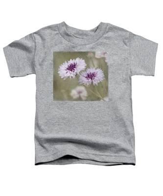 Bachelor Buttons - Flowers Toddler T-Shirt